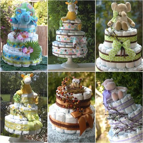 Дизайнерские торты из памперсов и пеленок от ADRIENNE
