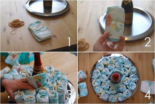 Торт из памперсов - как сделать своими руками, фото, мастер-класс