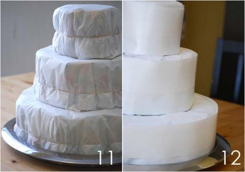 Изготовление торта из памперсов - основные шаги, фото, картинки