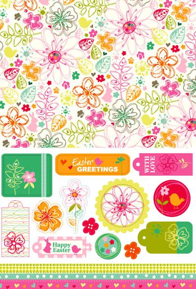 Бумага для печати. Выпуск 10: летне-цветочный