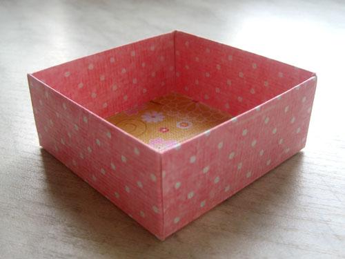 Шаблон квадратной коробки
