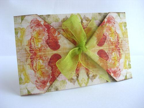 Шаблон подарочного конверта