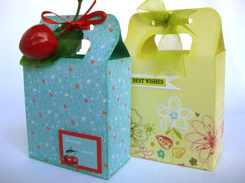 Шаблон подарочного пакета