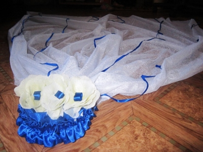 Оригинальное свадебное украшение на машину