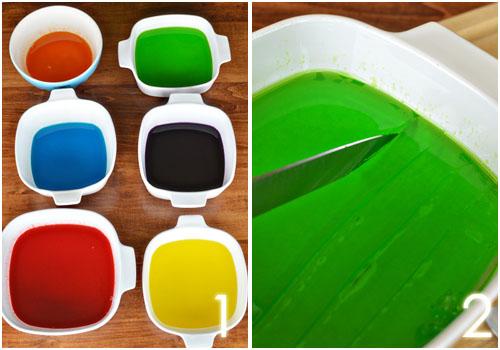 Разноцветные желейные конфеты