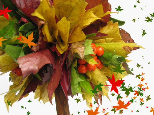 Осенние топиарии - поделка в детский сад