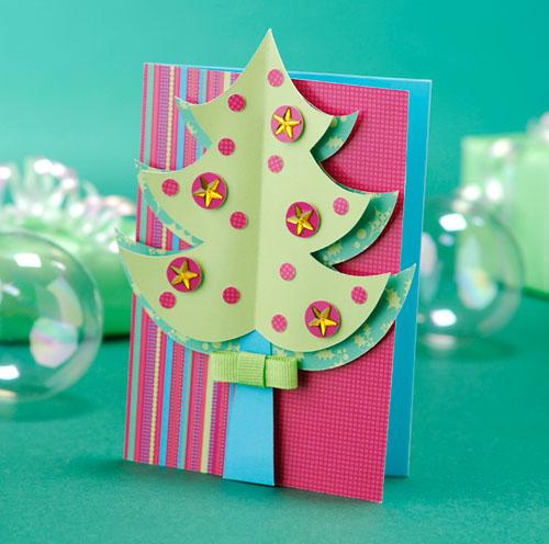 Бесплатный шаблон для новогодней открытки