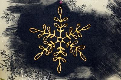 Снежинки из ниток