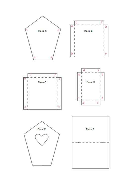 Бесплатный шаблон домика для влюбленных