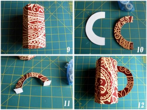 Упаковка в виде кружки для маленького подарка